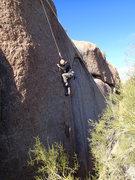 Rock Climbing Photo: Susan on 'King of pain'