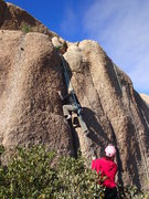 Rock Climbing Photo: Susan on 'Worm'