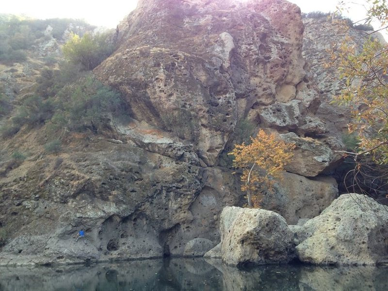 Traversing at Malibu Creek<br>