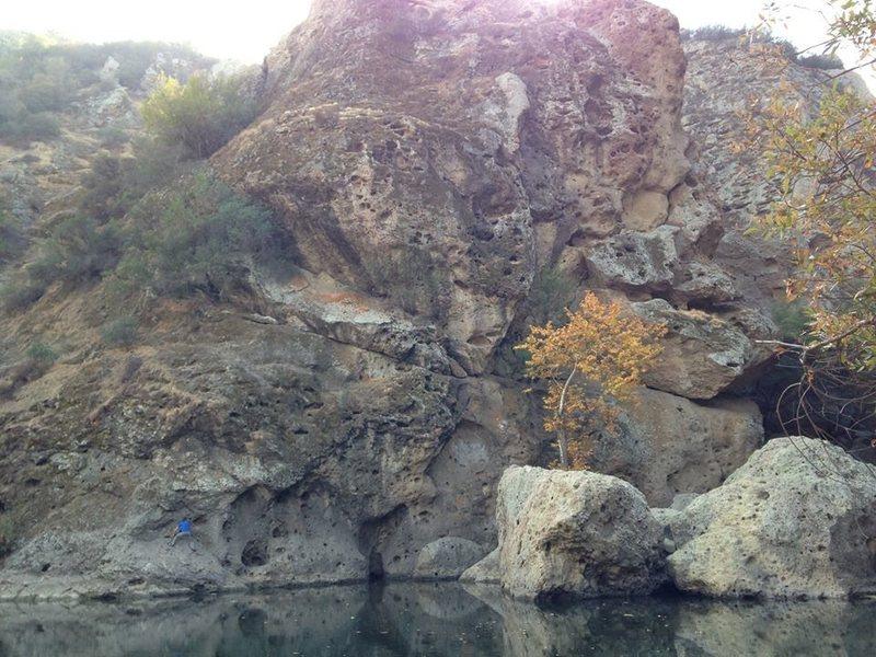 Traversing at Malibu Creek<br>