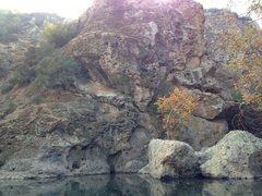 Rock Climbing Photo: Traversing at Malibu Creek
