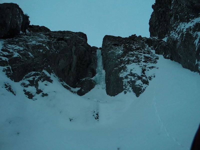 The 8th pitch of ice in Sharkaraktma.  25 great meters of good ice.