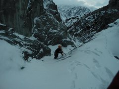 Rock Climbing Photo: Solo ice on an easy 15 meter pitch in Sharkaraktma...