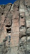 Rock Climbing Photo: Jim working on Rolling Stones