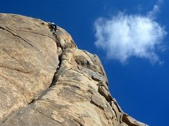 Rock Climbing Photo: Up and left for one of the funnest airy roof finis...
