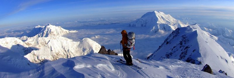 West Buttress made for a memorable ski trip - <br> photo Caleb Wray - 2010