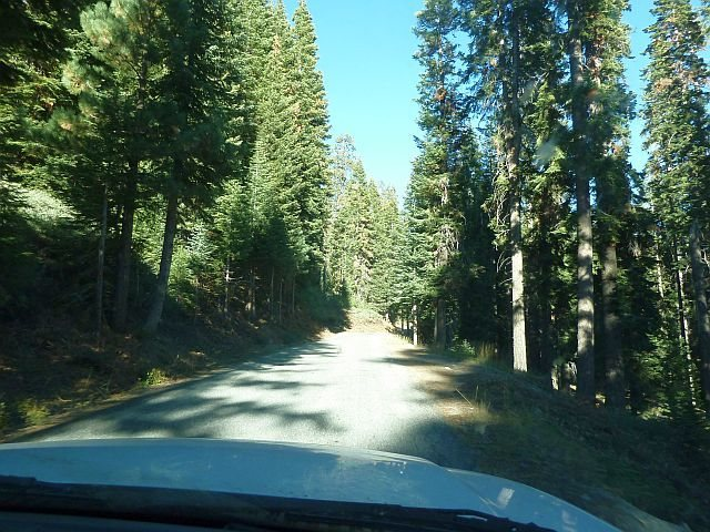 The last stretch of the drive, Courtright Reservoir