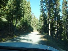 Rock Climbing Photo: The last stretch of the drive, Courtright Reservoi...