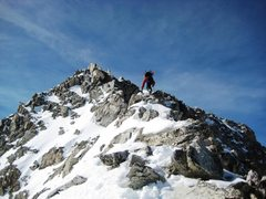 Rock Climbing Photo: Winter 2009 - the summit ridge.