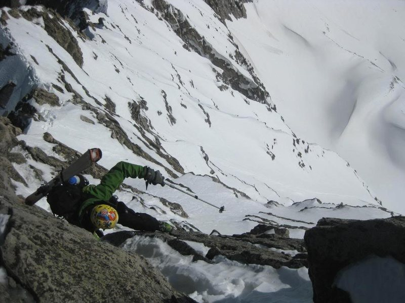Winter 2009 - Jordan White makes the final moves to the summit.