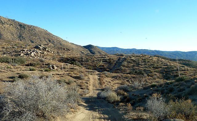 The road to Deep Creek Hot Spring, San Bernardino Mountains
