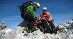 Rock Climbing Photo: With Jordan White on the summit - about to make fi...