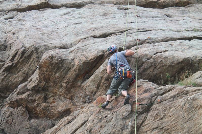 Rock Climbing Photo: Thaner on the Catslab