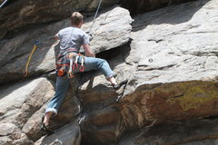 Rock Climbing Photo: I refuse to follow your route