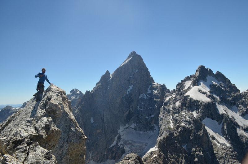 Rock Climbing Photo: teewinot summit