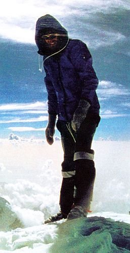 Rock Climbing Photo: Reinhold Messner atop Mt. Everest after his histor...