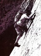 Rock Climbing Photo: TM Herbert clowning around on the Salathe Wall, Yo...