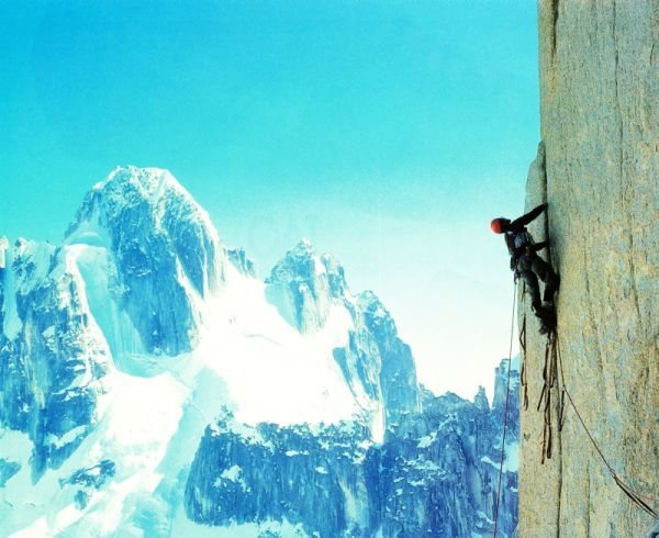 Rock Climbing Photo: Alan Long on the East Buttress of the Citadel (V 5...