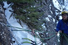 Rock Climbing Photo: One of the bolted anchors on top of pitch two. Jus...