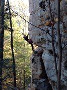 Rock Climbing Photo: Joy Nason Brown on 3rd ascent of Team Tough on Tou...