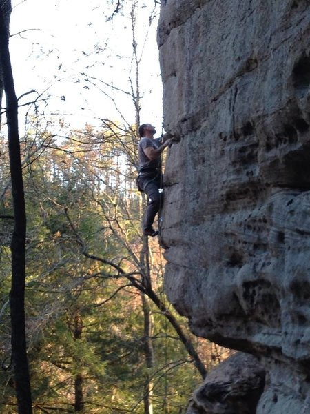 "Rock Climbing Photo: Chris ""Smitty"" Smith on the 2nd ascent o..."
