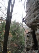 Rock Climbing Photo: DQ on 1st ascent of Team Tough on Tour