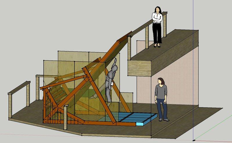 SketchUp model of woody