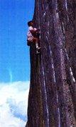 Rock Climbing Photo: Kurt Smith on the 1st free-solo of Manic Depressio...