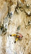 Rock Climbing Photo: Nicola starting on Elefantenhimmel