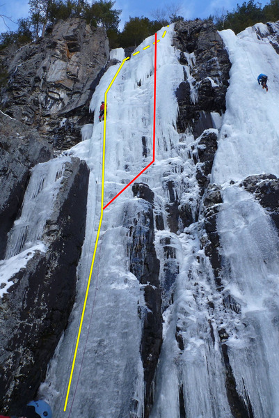 Rock Climbing Photo: Diableret on the left, there's also a small headwa...