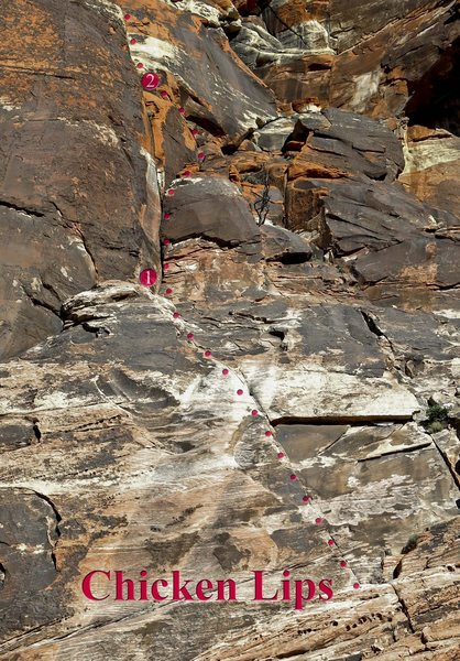 Rock Climbing Photo: The first two pitches of Chicken Lips both go at 5...