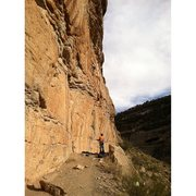 Rock Climbing Photo: Scott pulling onto the slab.