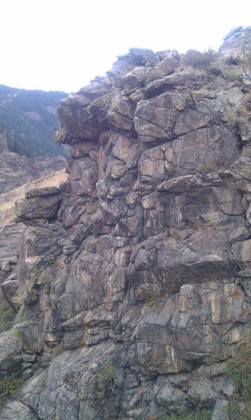 Rock Climbing Photo: This is the smaller shorter wall to the left of th...