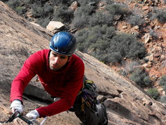 Rock Climbing Photo: Striking a pose on p4