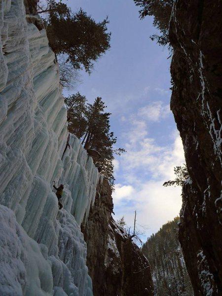 Rene climbing 11th hour.