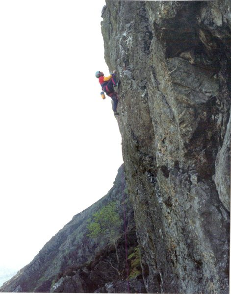 Paul Ross on First Ascent photo Jill Sharpe