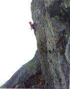 Rock Climbing Photo: Paul Ross on First Ascent photo Jill Sharpe