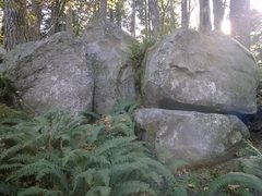 Rock Climbing Photo: Orchards Area boulder