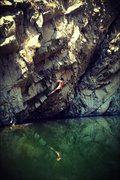 Rock Climbing Photo: Yes the IE even has deep water soloing!!!