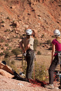 Rock Climbing Photo: Tom and Dana checking out what they're getting the...