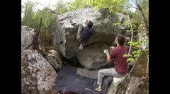 Rock Climbing Photo: John Lyman on the second ascent of Inja Da Ninja.