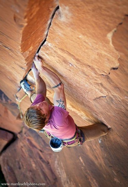 Intruder, 5.11+. Zion National Park. Photo: Matt Kuehl