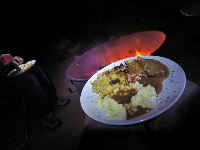 Best Thanksgiving Dinner ever. Climbing trip in JTree.