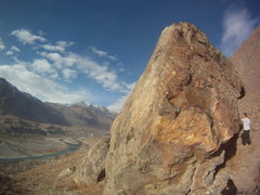 Rock Climbing Photo: Massive boulder on the edge of the hill. Have fun ...