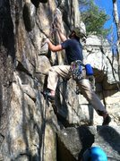 Rock Climbing Photo: You can never place pro too early on Ken's Crack.