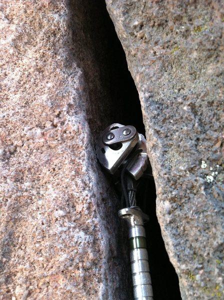 Perfect cam on The Bastille Crack, Eldo Canyon.