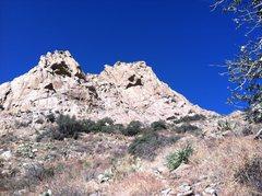 Rock Climbing Photo: Lambda Wall from the approach. Photo Marc Tarnosky...