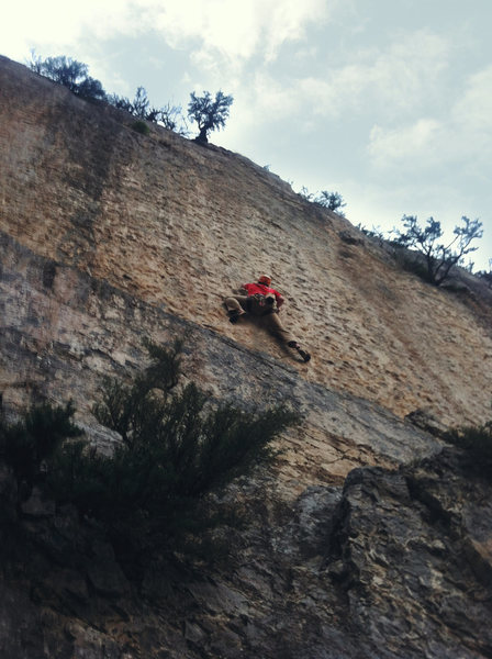 Learning to freeze, on Learning To Fly. Climbing late in the season. (Iphone 4)