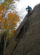 Rock Climbing Photo: Crescent, 5.7 (Oscar Mayer)