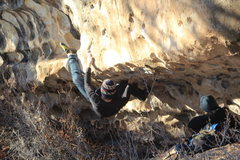 Rock Climbing Photo: Yoker great problem that usually gets passed up